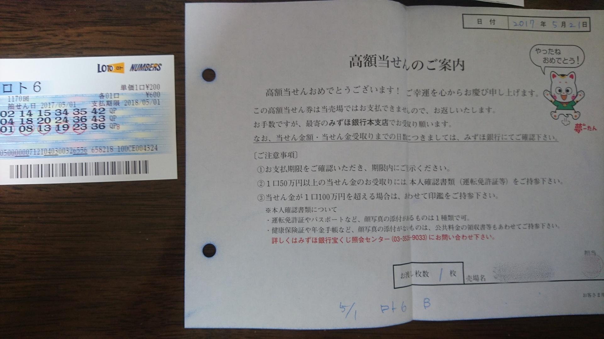 番号 宝くじ ナンバーズ みずほ 銀行 当選